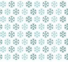 Seamless pattern with blue christmas snowflakes on white background Photographic Print
