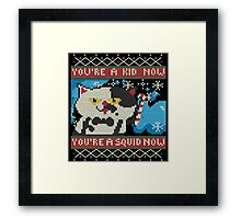 Knitted Ugly Sweater Splatoon Judd the Cat from Nintendo Framed Print
