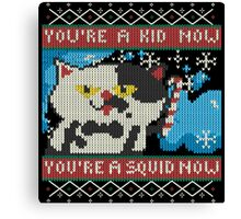 Knitted Ugly Sweater Splatoon Judd the Cat from Nintendo Canvas Print