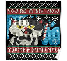 Knitted Ugly Sweater Splatoon Cat from Nintendo Poster