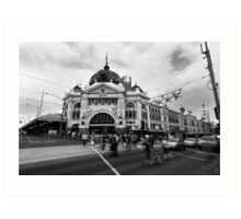 Keeping up - Flinders Street Railway Station Art Print