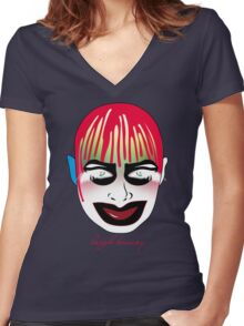 leigh bowery Women's Fitted V-Neck T-Shirt