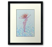 'All Froth and Bubble' by Jo Morgan Framed Print
