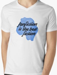 fanfic is the best Mens V-Neck T-Shirt