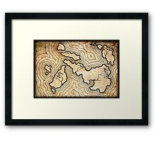 Fantasy Map Framed Print