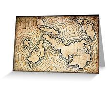 Fantasy Map Greeting Card
