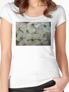 Purpleleaf Sand Cherry Blossoms Women's Fitted Scoop T-Shirt