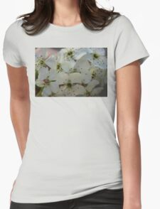 Purpleleaf Sand Cherry Blossoms Womens Fitted T-Shirt