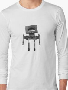 Cassette Robot, or Cassbot if you will Long Sleeve T-Shirt