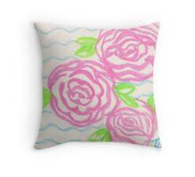 floral - brain waves Throw Pillow