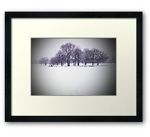 Brockwell Park Tree Circle in Winter Framed Print