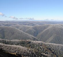 As Far As The Eye Can See - Blue Rag Range Track - Victorian High Country by MissyD