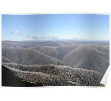As Far As The Eye Can See - Blue Rag Range Track - Victorian High Country Poster