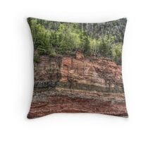 Red Rock Cut Throw Pillow
