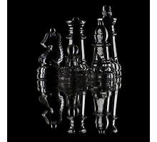 Glass Chess Photographic Print