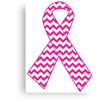 Breast Cancer Ribbon Canvas Print