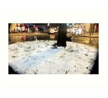 Snowy Herne Hill Junction Art Print