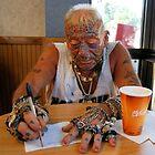 Tatto man at McDonalds by McGaffus