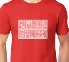 Modular Synth T Shirt Red Unisex T-Shirt