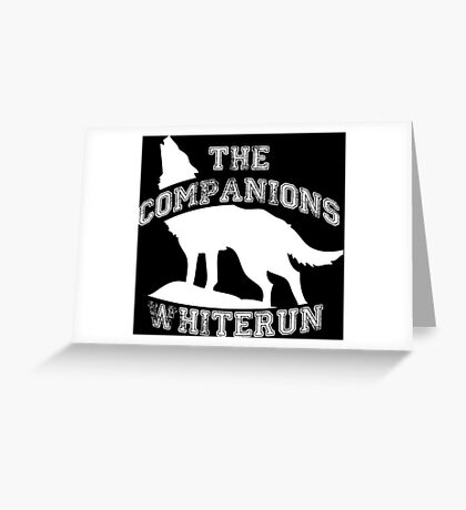 The companions of Whiterun - White Greeting Card