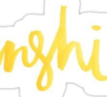 Gold Sunshine Sticker