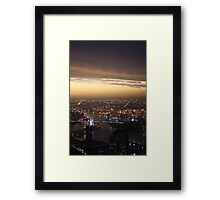 Melbourne City Is Mighty Pretty Framed Print