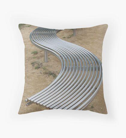 Topsy Curvy Throw Pillow