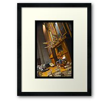 It's one of those days again, when music is your only friend Framed Print