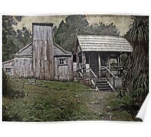 Vintage view of Waldheim Chalet - Cradle Mountain Poster