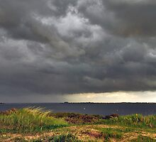 Threatening sky over Lake Grevelingen by Adri  Padmos