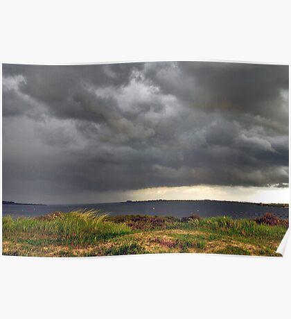 Threatening sky over Lake Grevelingen Poster