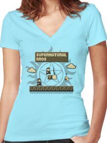 Supernatural Bros. Women's Fitted V-Neck T-Shirt