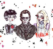 Thomas Sharpe, Lady Lucille and Edith  by balgrittella