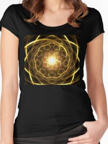 Gold Chantilly Women's Fitted Scoop T-Shirt