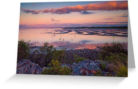 The Magic Hour Shornecliffe Mudflats Brisbane Australia by PhotoJoJo