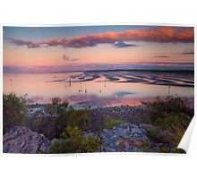 The Magic Hour Shornecliffe Mudflats Brisbane Australia Poster