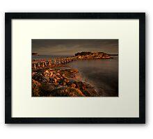 Bear Island at La Perouse at sunset Framed Print