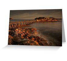 Bear Island at La Perouse at sunset Greeting Card