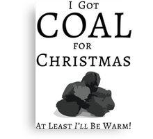 Christmas Coal Canvas Print