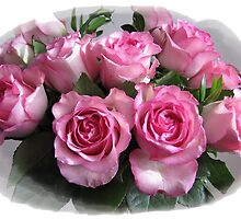 Pink Rose Bouquet by hummingbirds