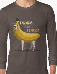 Bananas About Llamas! Long Sleeve T-Shirt