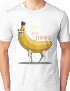 Bananas About Llamas! Unisex T-Shirt