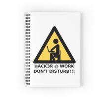 Hacker at work Spiral Notebook