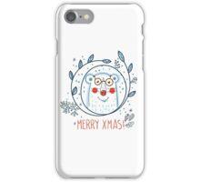 Christmas  polar bears and wreaths.  iPhone Case/Skin