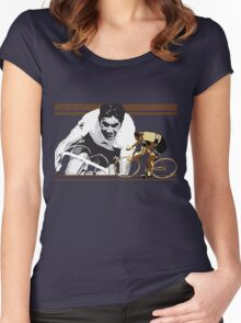 vintage poster EDDY MERCKX: the cannibal Women's Fitted Scoop T-Shirt