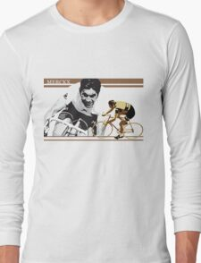 vintage poster EDDY MERCKX: the cannibal Long Sleeve T-Shirt