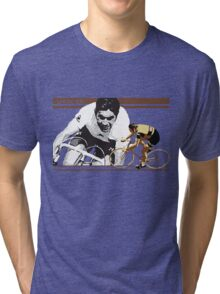 vintage poster EDDY MERCKX: the cannibal Tri-blend T-Shirt