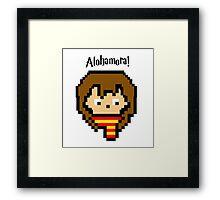 Pixel Hermione Framed Print