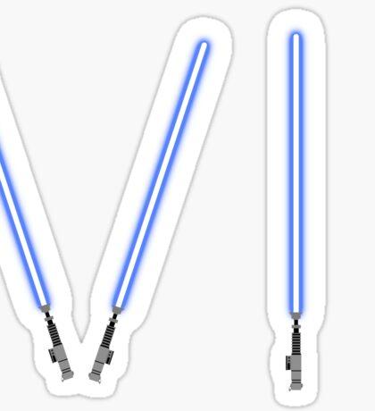 Star Wars The Force Awakens (Episode Seven) VII Blue Lightsaber Sticker