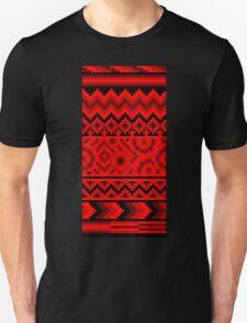 dark red pattern pixel Unisex T-Shirt